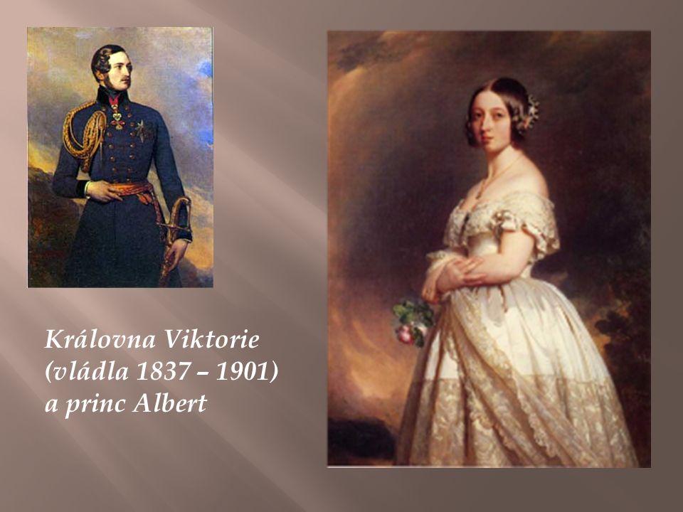 Královna Viktorie (vládla 1837 – 1901) a princ Albert