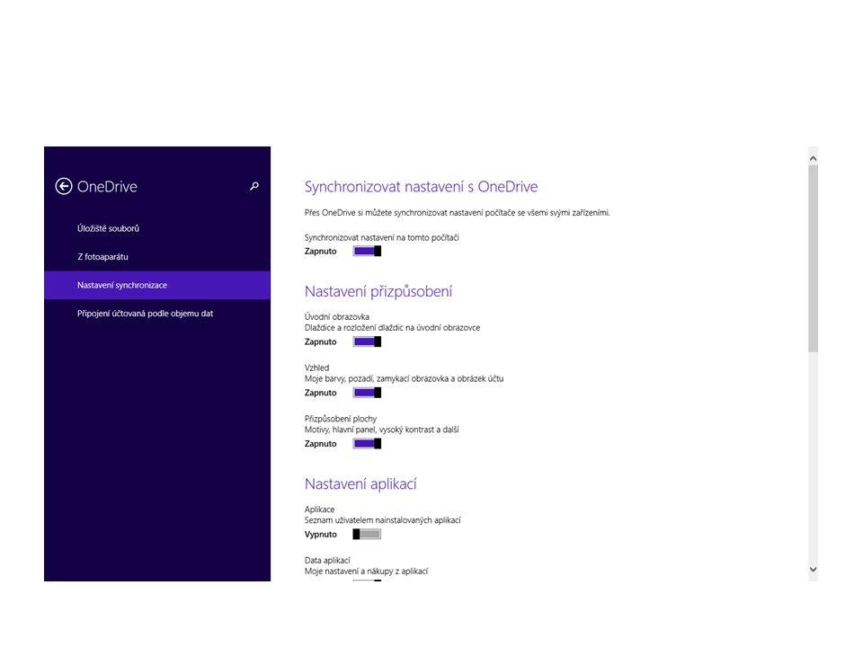 Základní orientace v operačním systému Obrazovka Start Zobrazení všech aplikací Připnutí často používaných aplikací Odepnutí aplikací z obrazovky Uspořádání obrazovky Start Další možnosti tlačítka Start Přizpůsobení zamykací obrazovky