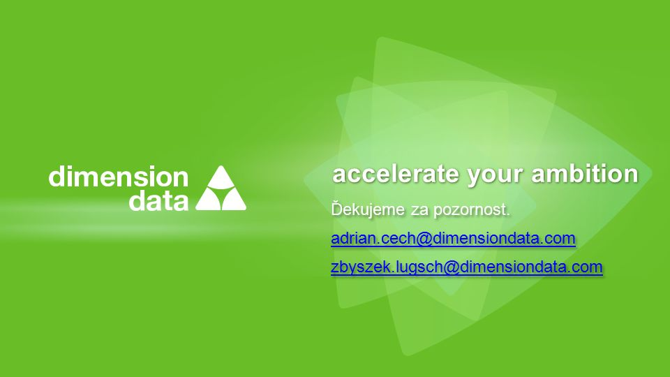 accelerate your ambition Ďekujeme za pozornost.