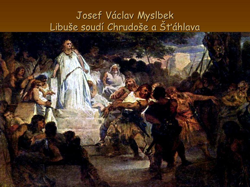 Josef Václav Myslbek Libuše soudí Chrudoše a Šťáhlava
