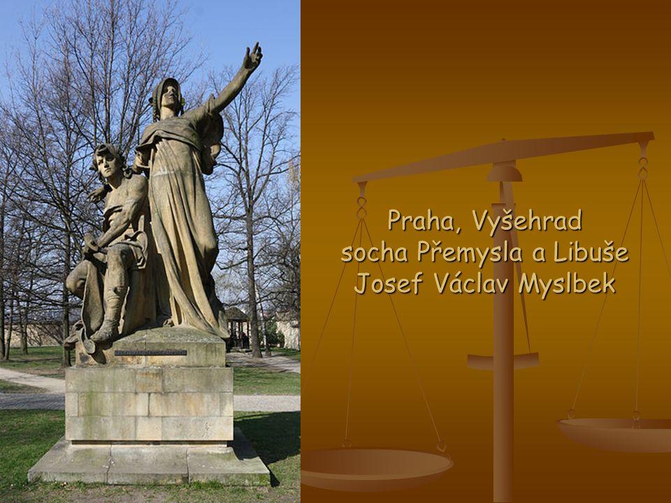 Praha, Vyšehrad socha Přemysla a Libuše Josef Václav Myslbek