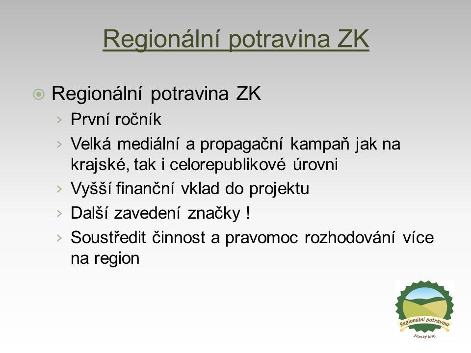 Regionální potravina ZK  Regionální potravina ZK › První ročník › Velká mediální a propagační kampaň jak na krajské, tak i celorepublikové úrovni › V