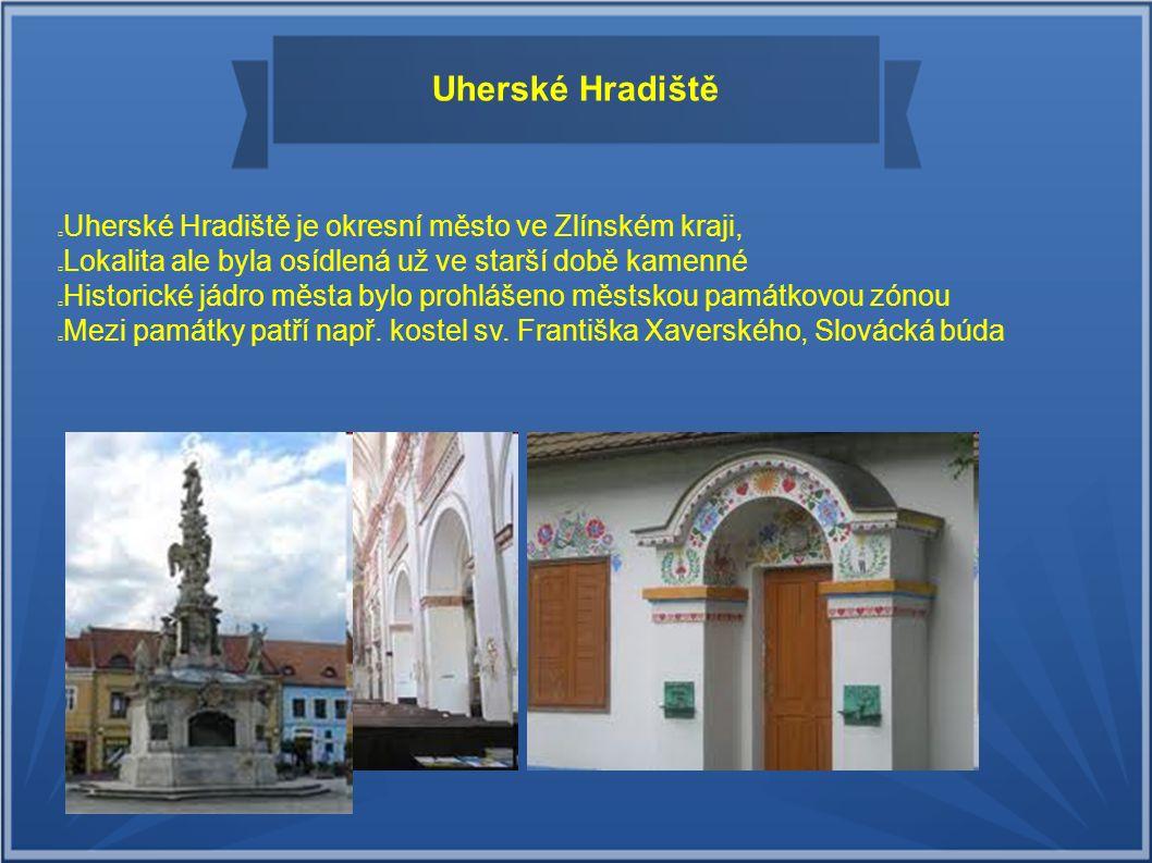 Uherské Hradiště Uherské Hradiště je okresní město ve Zlínském kraji, založené roku 1257 Přemyslem Otakarem II. Lokalita ale byla osídlená už ve starš