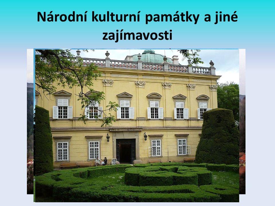 Národní kulturní památky a jiné zajímavosti