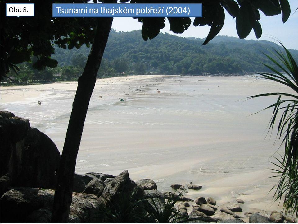 Obr. 8. Tsunami na thajském pobřeží (2004)