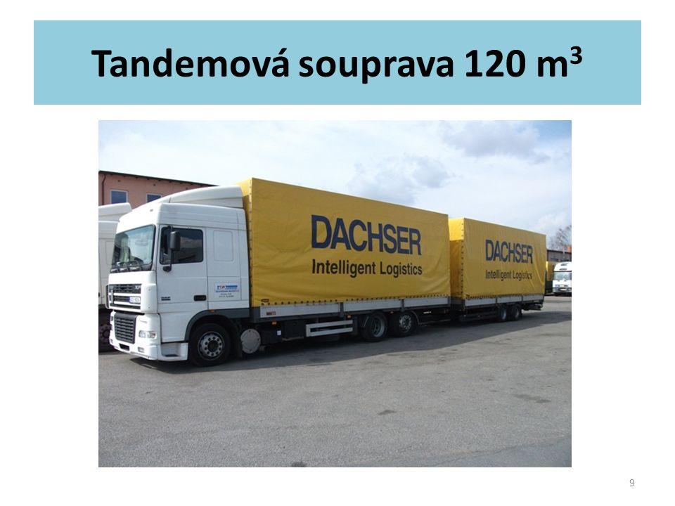 Tandemová souprava 120 m 3 9