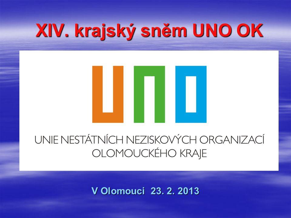 XIV. krajský sněm UNO OK V Olomouci 23. 2. 2013