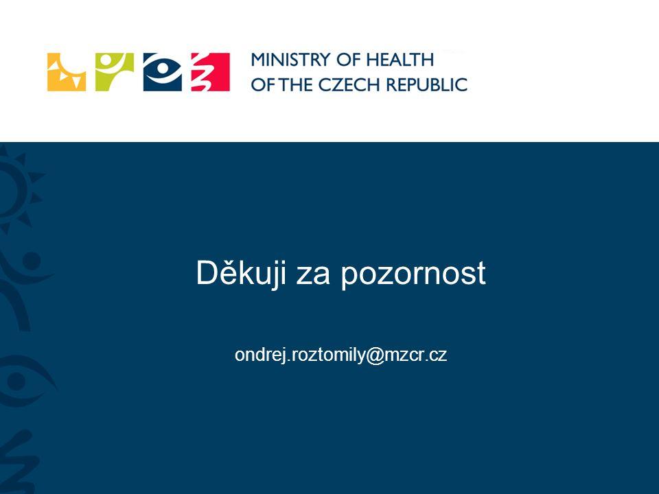 Děkuji za pozornost ondrej.roztomily@mzcr.cz