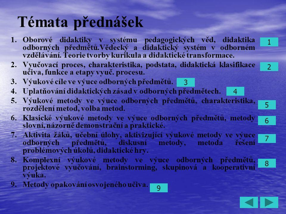 23 4.Uplatňování didaktických zásad v odborných předmětech.