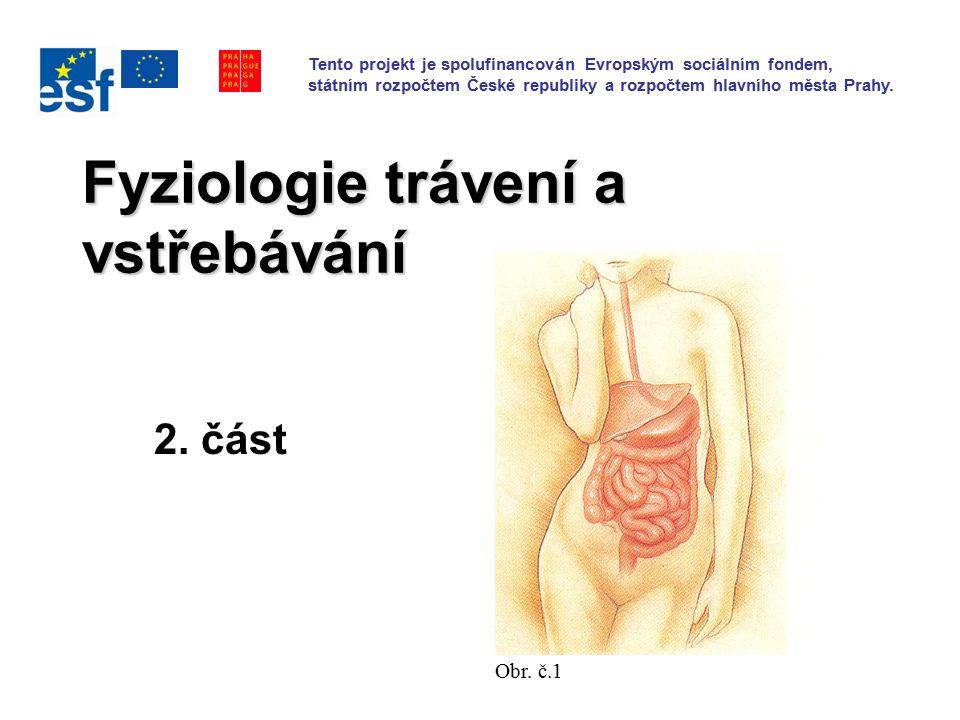 Fyziologie trávení a vstřebávání 2. část Obr.