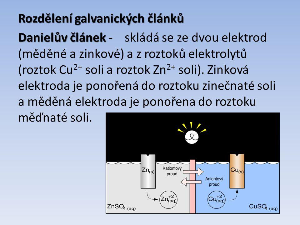 Suchý článek Suchý článek – zinko-uhlíkový článek, uhlíková tyčinka je kladnou elektrodou zinková nádoba je zápornou elektrodou článek poskytuje napětí 1,5V