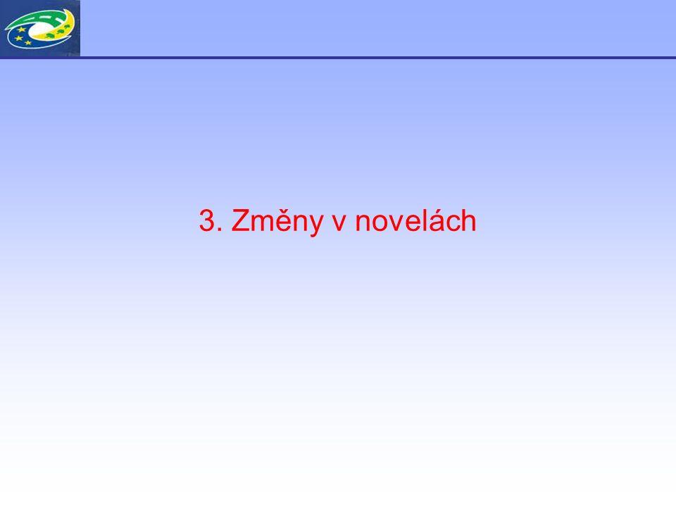 3. Změny v novelách