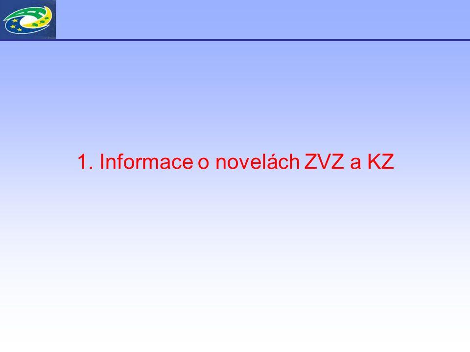 1. Informace o novelách ZVZ a KZ