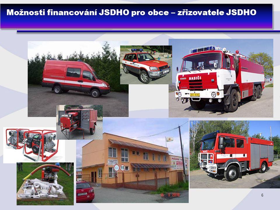 6 Možnosti financování JSDHO pro obce – zřizovatele JSDHO