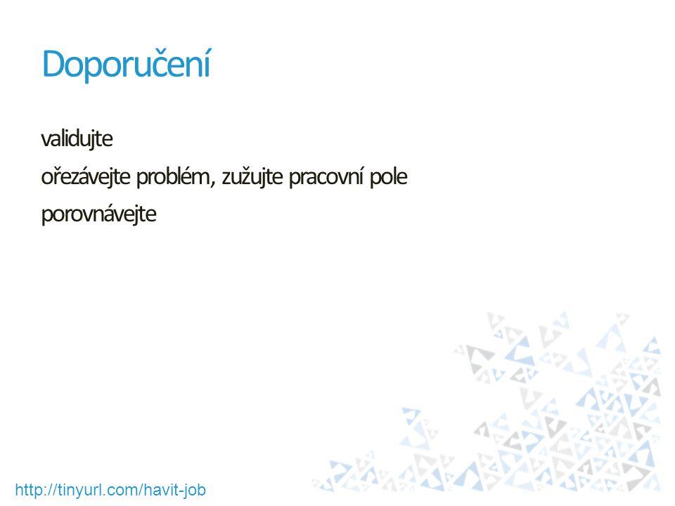 http://tinyurl.com/havit-job Doporučení validujte ořezávejte problém, zužujte pracovní pole porovnávejte