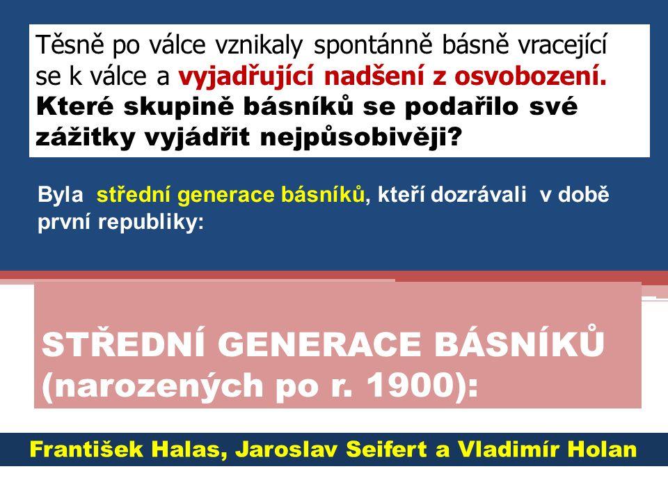 12 3 2 31 Přiřaďte portrétům jména: F.Halas, V. Holan, F.