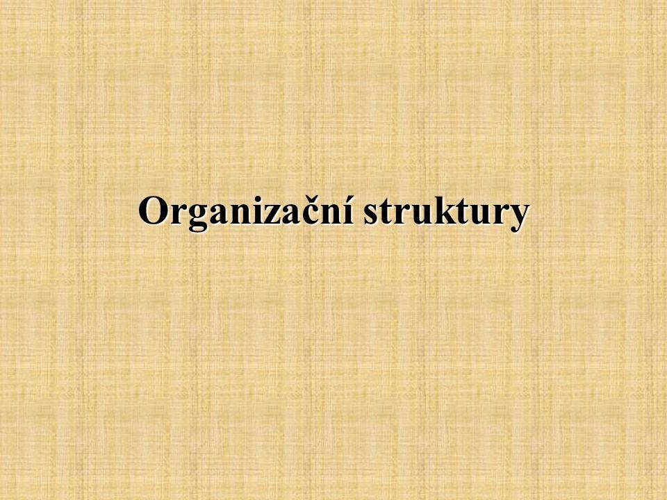 Organizační struktura Organizační struktura vyjadřuje formu relativně trvalého uspořádání.