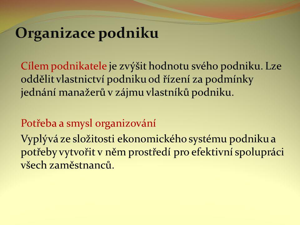 Důvodem organizování je nutnost dělby práce a omezenost rozpětí řízení (v důsledku efektivní realizace činností).