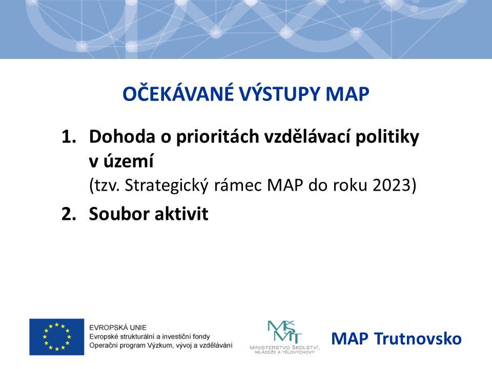 OČEKÁVANÉ VÝSTUPY MAP 1.Dohoda o prioritách vzdělávací politiky v území (tzv.