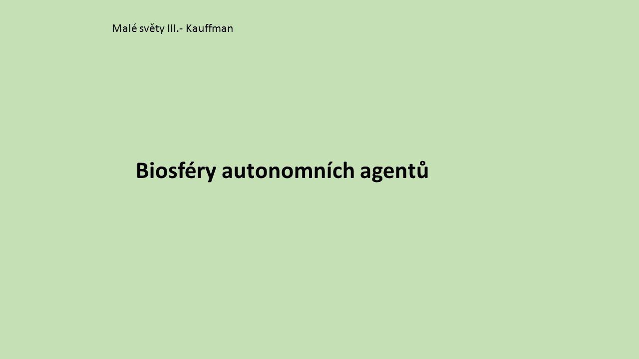 Malé světy III.- Kauffman Biosféry autonomních agentů