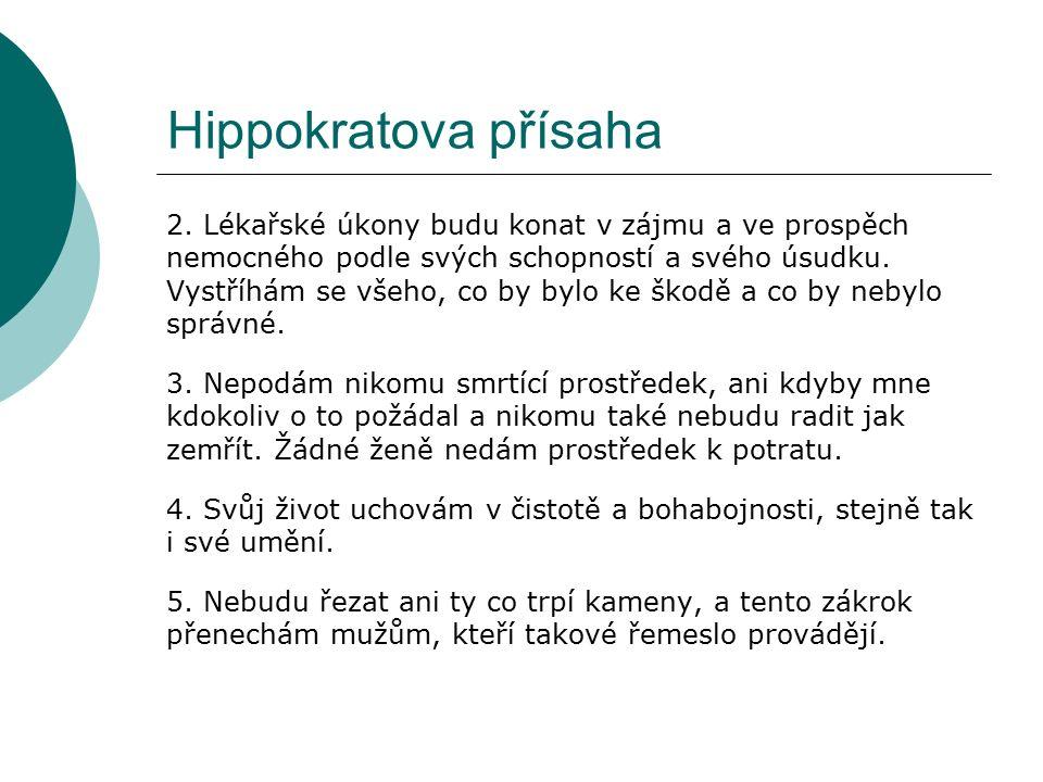 Hippokratova přísaha 2.