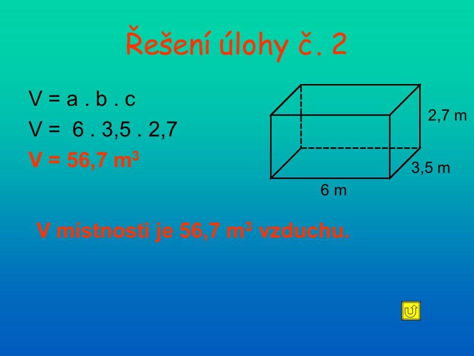 Řešení úlohy č.3 Krychle a = 24 cm V = a. a. a V = 24.