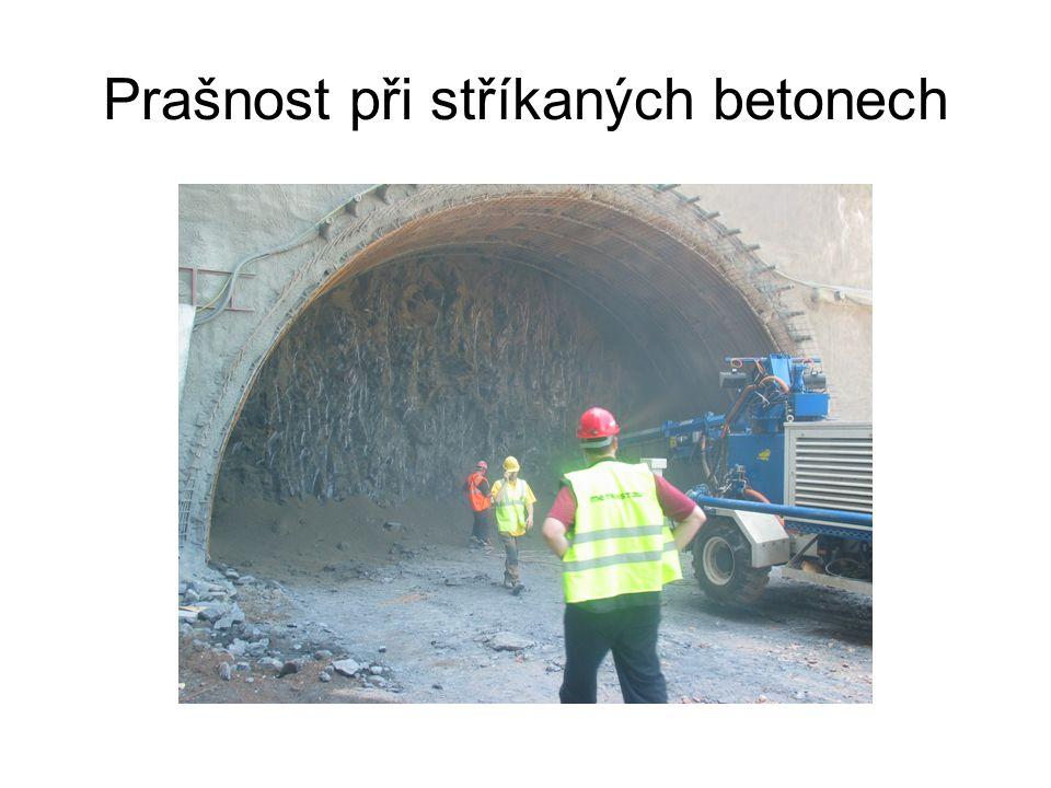 Prašnost při stříkaných betonech