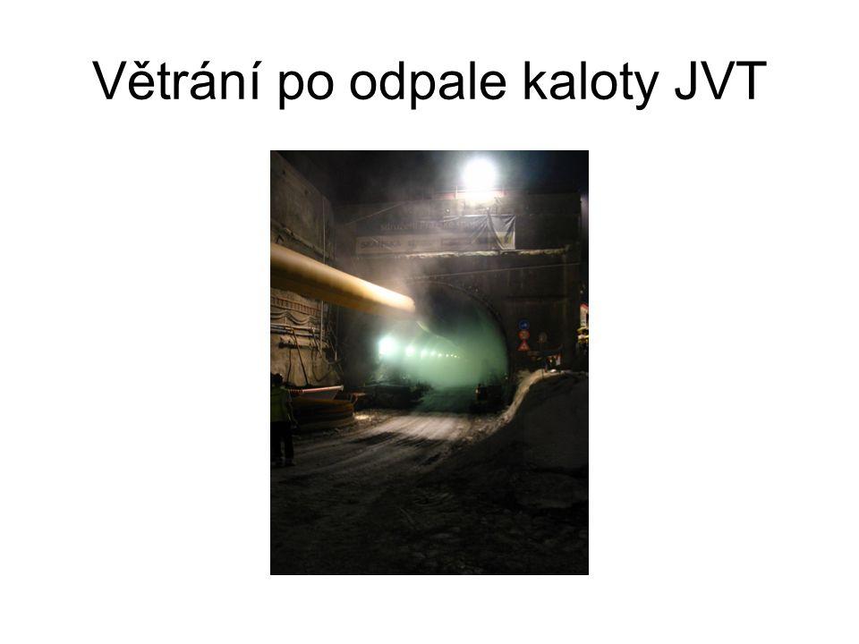 Větrání po odpale kaloty JVT