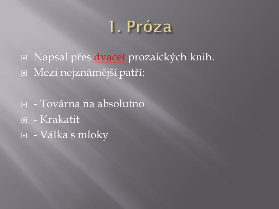  Napsal přes dvacet prozaických knih.