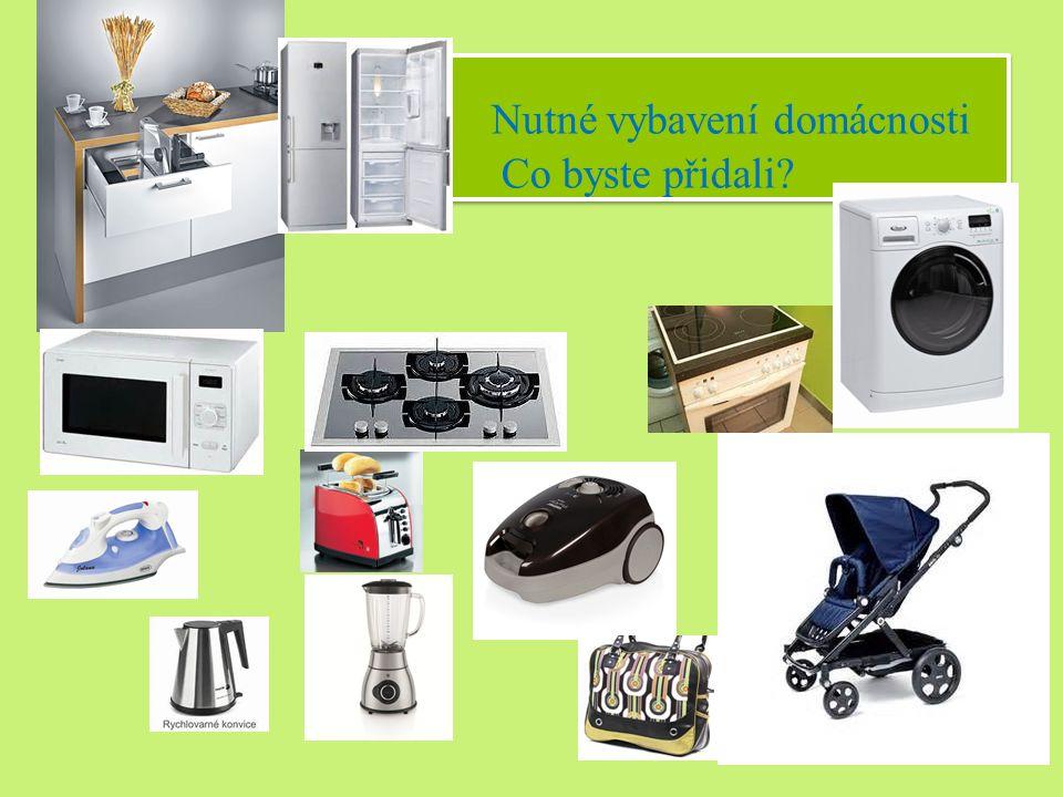 Nutné vybavení domácnosti Co byste přidali