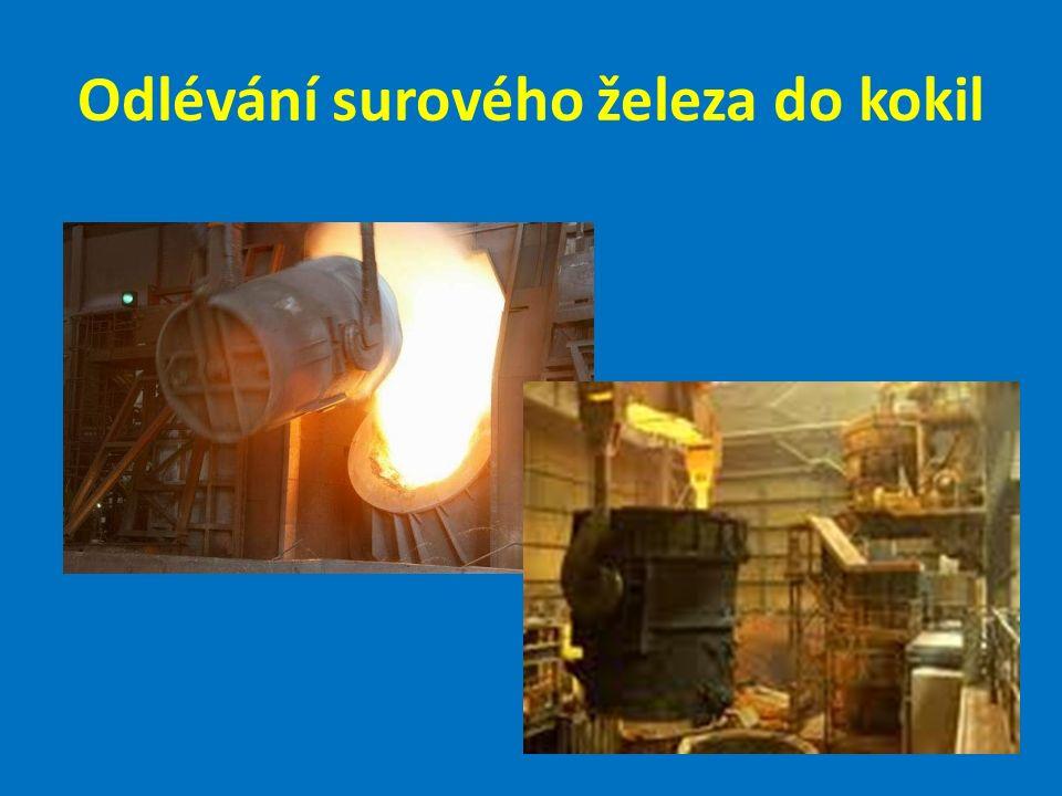 Odlévání surového železa do kokil