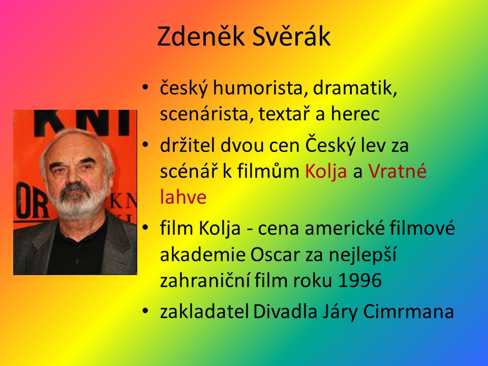 Ladislav Smoljak filmový i divadelní režisér, scenárista a herec spolupráce s Z.