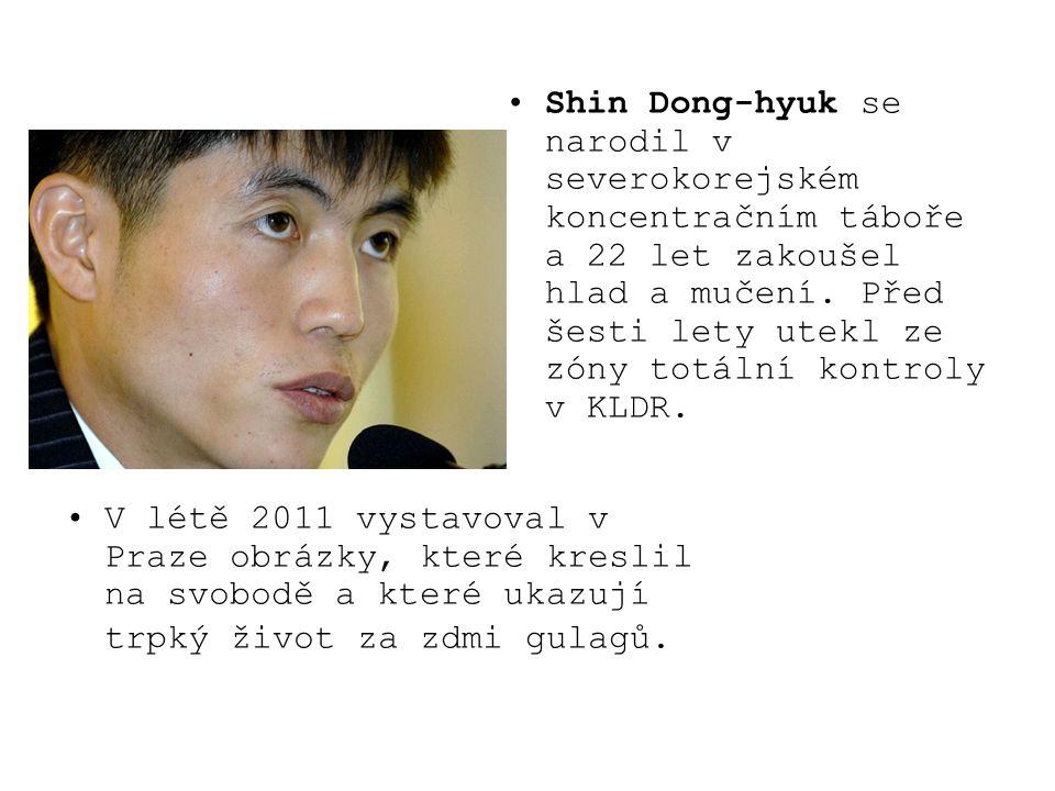 Shin Dong-hyuk se narodil v severokorejském koncentračním táboře a 22 let zakoušel hlad a mučení. Před šesti lety utekl ze zóny totální kontroly v KLD