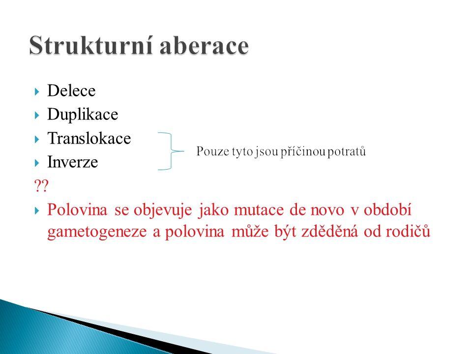  Delece  Duplikace  Translokace  Inverze .