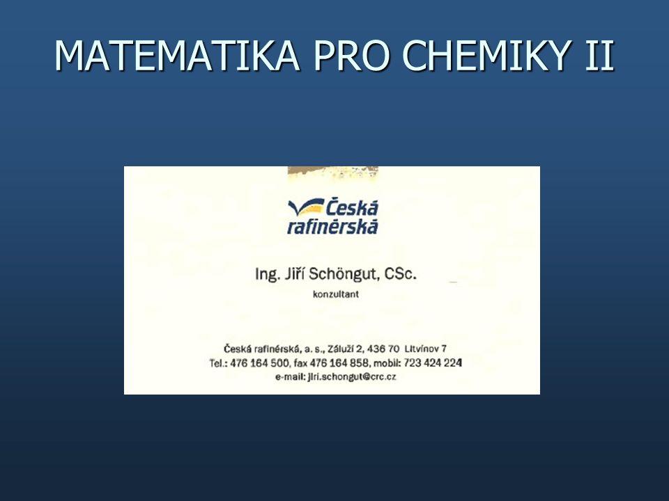MATEMATIKA PRO CHEMIKY II