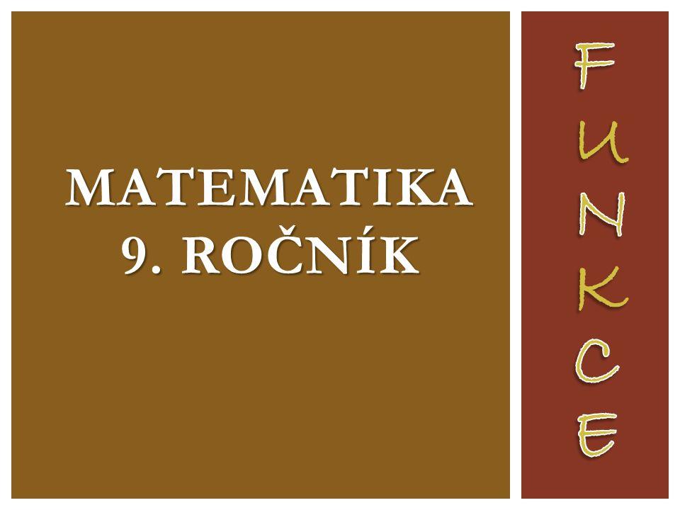MATEMATIKA 9. ROČNÍK