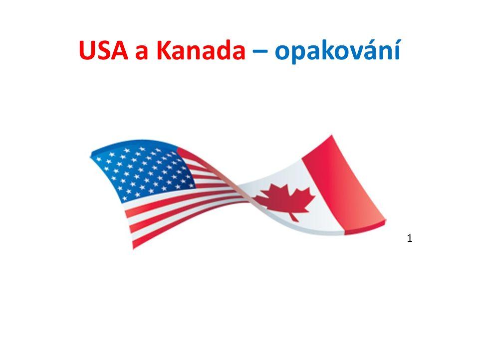 USA a Kanada – opakování 1