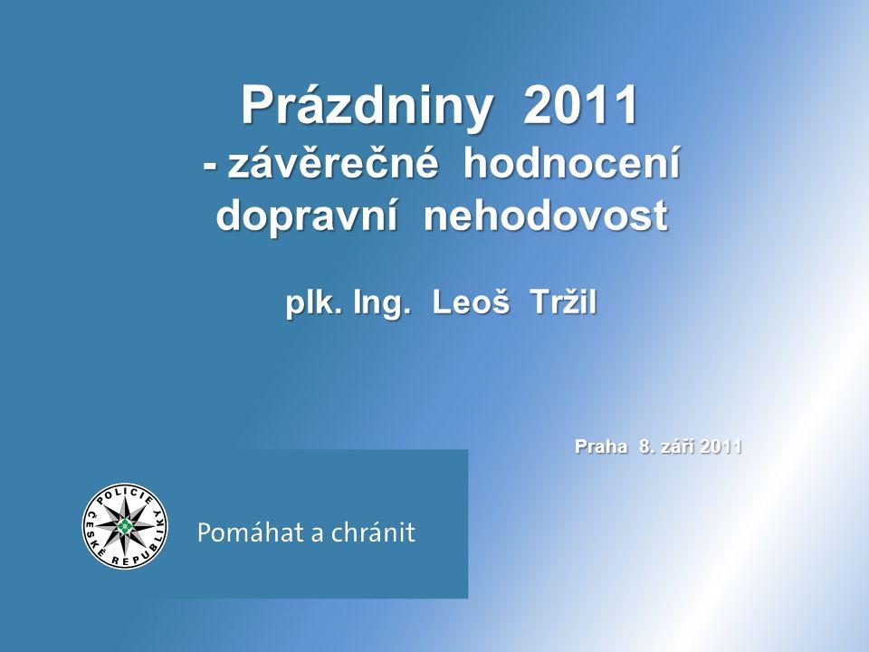 Prázdniny 2011 12 676 nehod (- 423, tj.- 3,2%) 140 osob usmrceno (- 30, tj.
