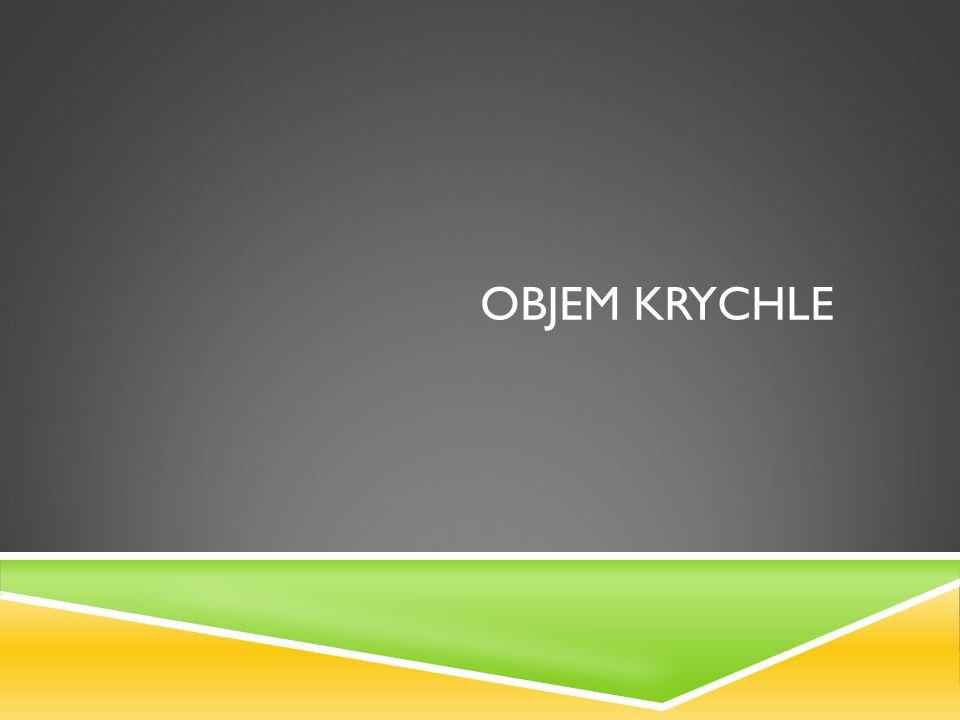 OBJEM KRYCHLE