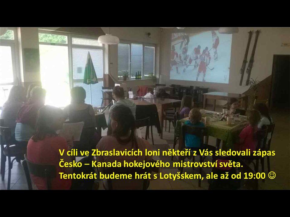 V cíli ve Zbraslavicích loni někteří z Vás sledovali zápas Česko – Kanada hokejového mistrovství světa.