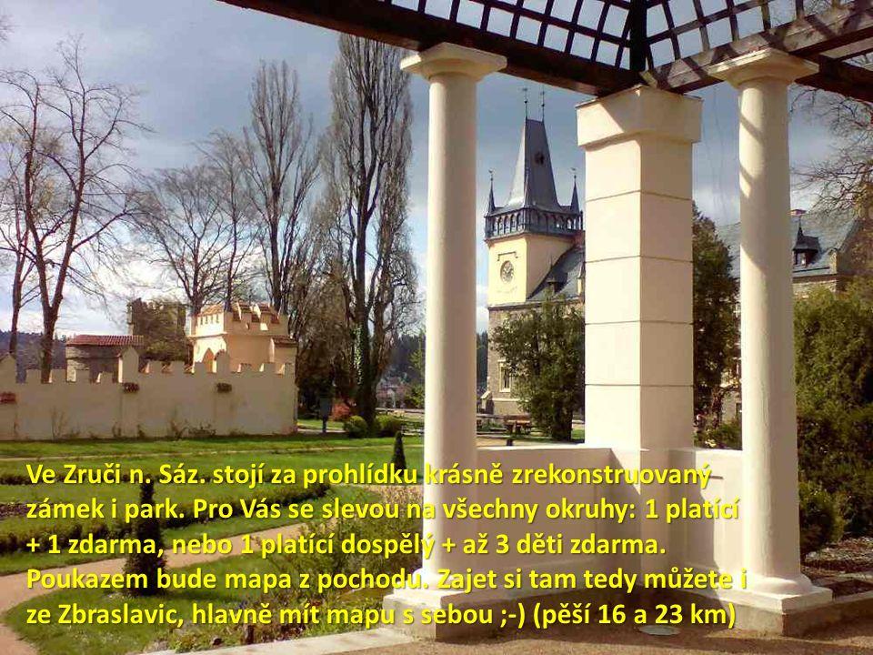 Ve Zruči n.Sáz. stojí za prohlídku krásně zrekonstruovaný zámek i park.