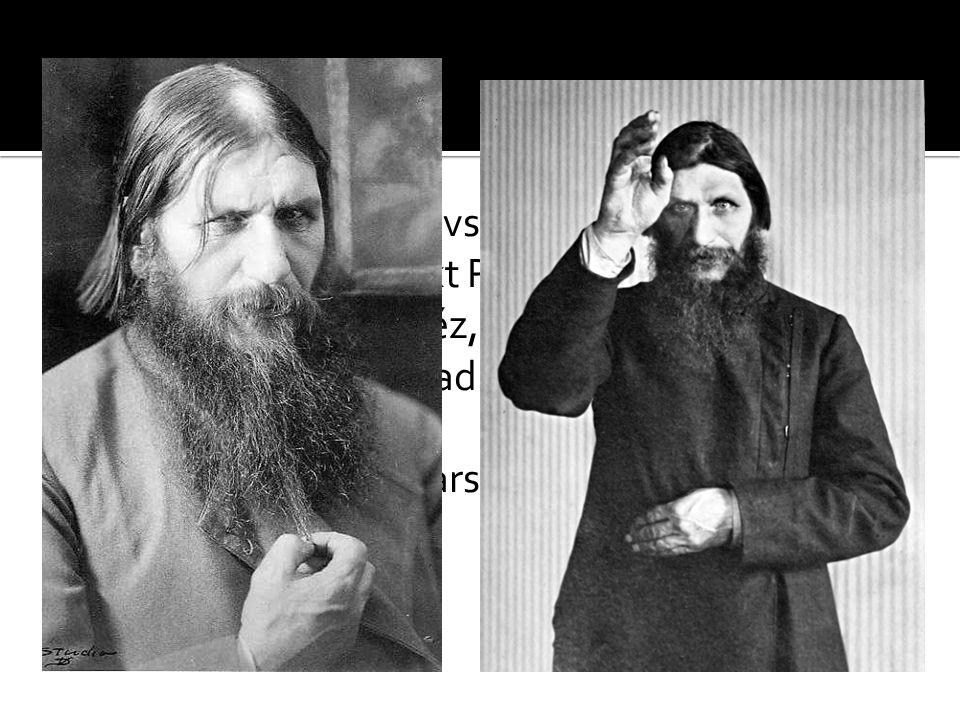 """ * 22.1.1869 – Pokrovskoje (data nedoložená)  † 29.12.1916 – Sankt Petěrburg  ruský ortodoxní kněz, mystik a léčitel  označován jako """"Mad Monk"""", t"""