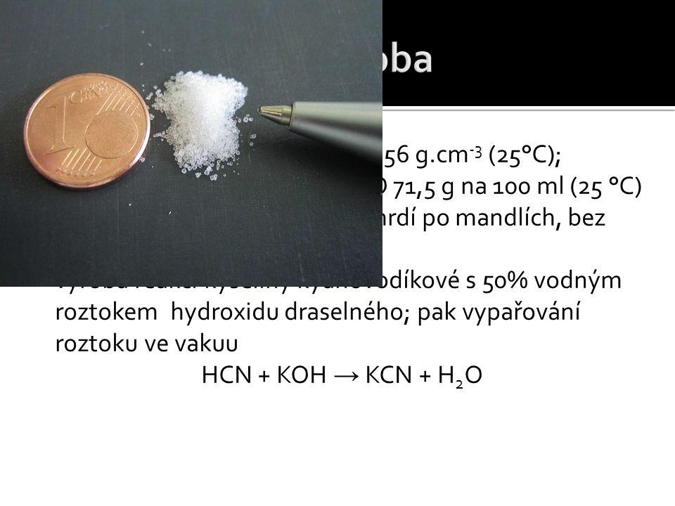  t t = 634,5 °C; t v = 1635°C; ρ = 1,56 g.cm -3 (25°C); M = 65,116 g.mol -1 ; rozp.