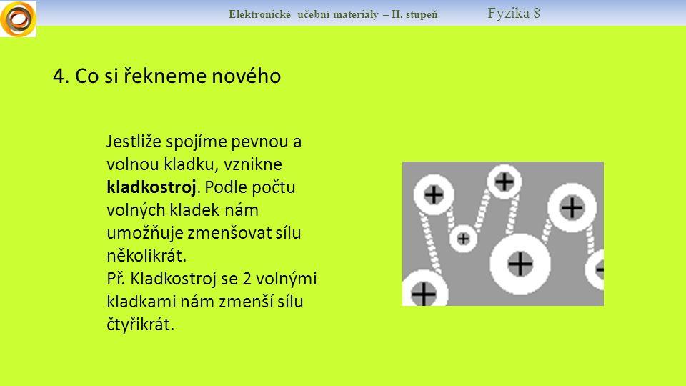 Elektronické učební materiály – II.stupeň Fyzika 8 5.