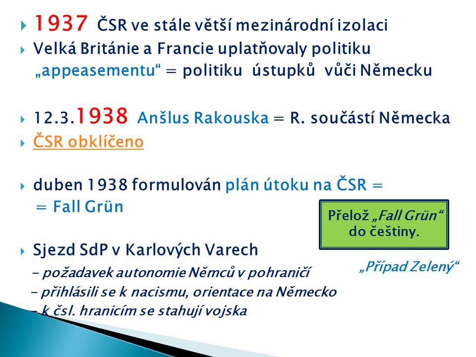 """ 15.5.1938 manifest """"Věrni zůstaneme , podepsalo přes milion lidí  20.5."""