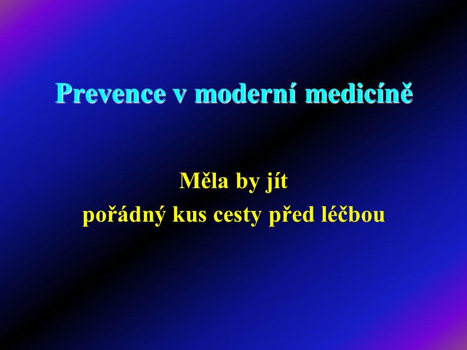 Prevence v moderní medicíně Měla by jít pořádný kus cesty před léčbou