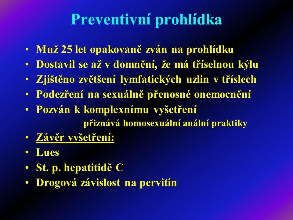 Motivace k prevenci: - incidence nejčastěji se vyskytujících chorob - hlavní příčiny úmrtí v populaci: 1.Srdeční choroby 2.Maligní onemocnění 3.