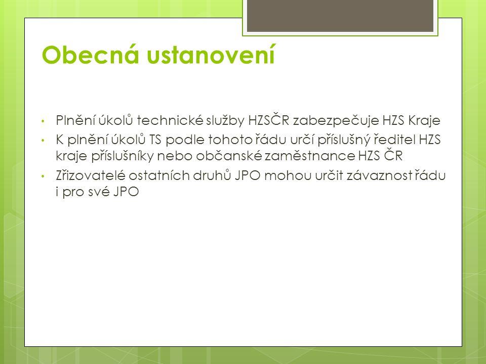 Vymezení zodpovědnosti Hasiči při výkonu služby: Zodpovídají za stav jim přidělených PTS až do předání další směně Provádí stanovenou uživatelskou kontrolu Po použití PTS zodpovídají za předání technikovi k provedení předepsaných kontrol