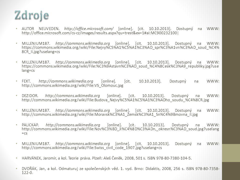 AUTOR NEUVEDEN. http://office.microsoft.com/ [online]. [cit. 10.10.2013]. Dostupný na WWW: http://office.microsoft.com/cs-cz/images/results.aspx?qu=tr