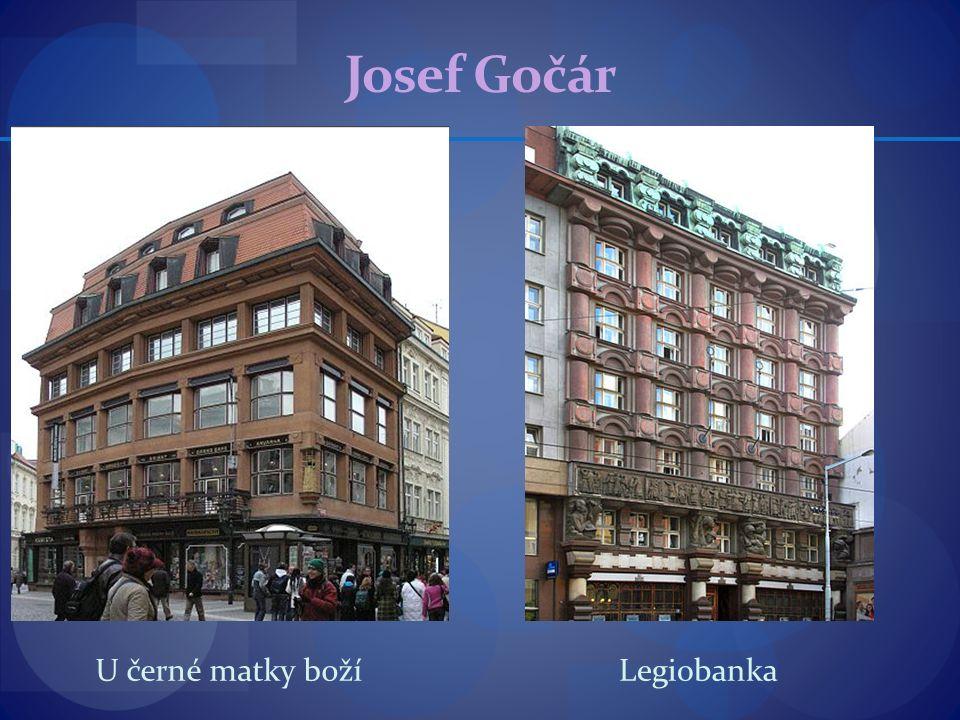 Josef Gočár U černé matky božíLegiobanka